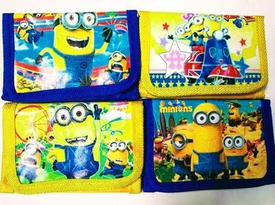 6 portafogli I Minions portamonete gadget a tema fine festa compleanno bambini