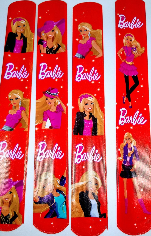 10 Bracciali Barbie Braccialetti Slap gadget a tema