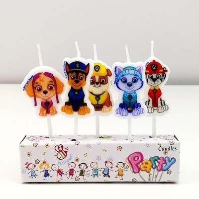 5 candeline Paw Patrol decorazioni torte festa compleanno a tema