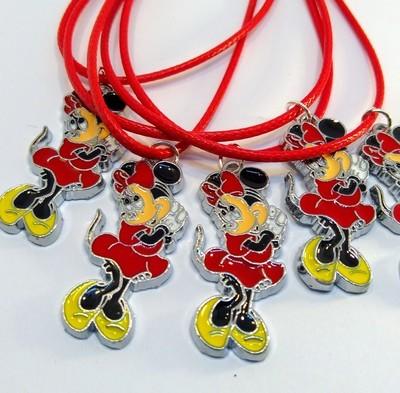 10 Collane Minnie Disney Pendente medaglia in acciaio
