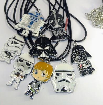 10 Collane Star Wars Pendente medaglia in acciaio