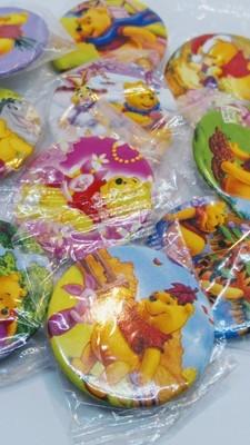 10 Spille 3cm zaino scuola personalizzate Winnie the Pooh