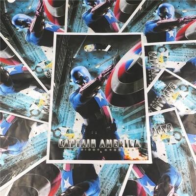10 bustine Capitan America confezioni regalo