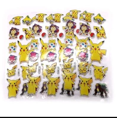 30 fogli stickers Adesivi Pokemon Pikachu