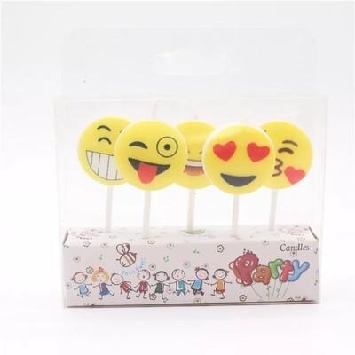 5 candeline Emoticons decorazioni torte festa compleanno a tema