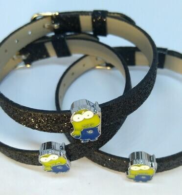 10 Braccialetti Minions cattivissimo Me slide glitter charms