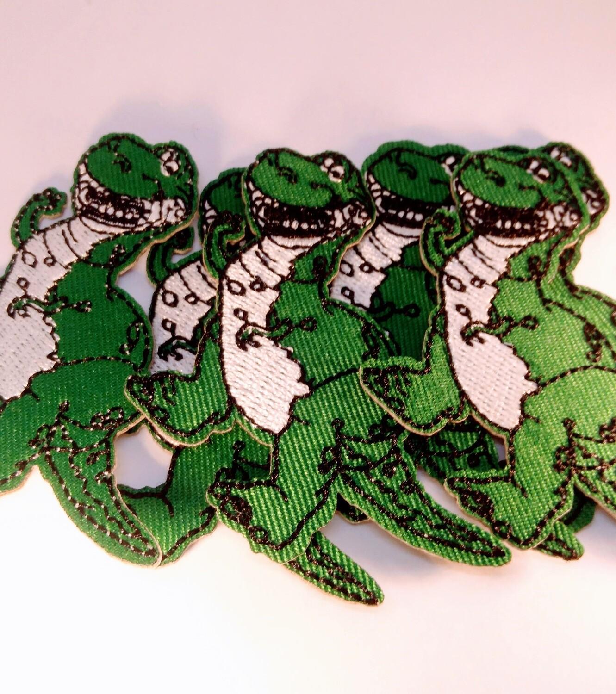 10 Toppe Patch termoadesive a tema Dinosauri