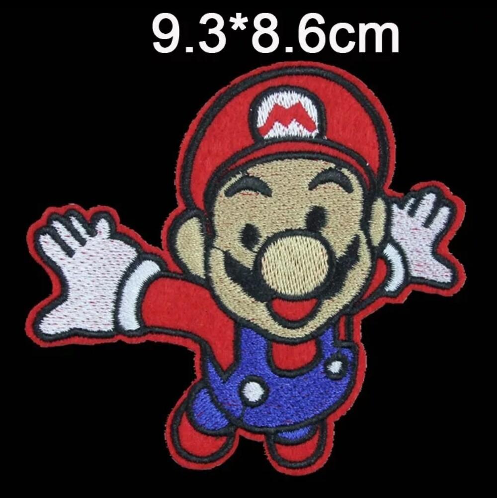 10 Toppe Patch termoadesive a tema Super Mario Bros