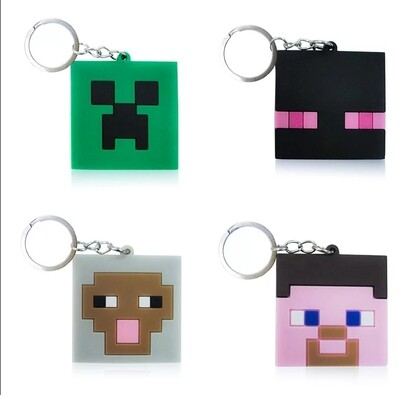 10 portachiavi Minecraft chiusura zip lampo zaino scuola