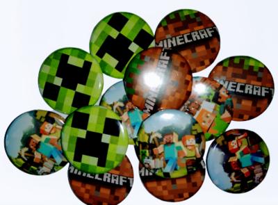 10 Grandi Spille 4,5cm zaino scuola personalizzate Minecraft