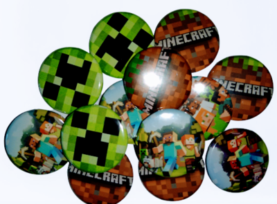 10 Spille 2,5cm zaino scuola personalizzate Minecraft