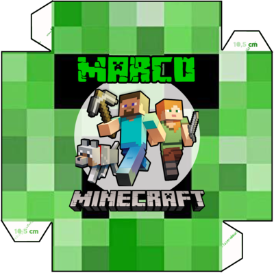 File digitale Piatti Minecraft personalizzabili addobbi festa compleanno a tema