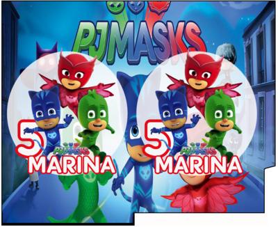 File Digitale Porta Tovaglioli e Posate personalizzati Pj Masks addobbi feste di compleanno