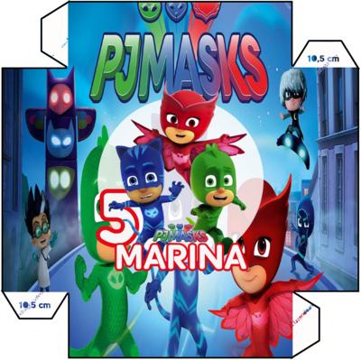 File digitale Piatti Pj Masks personalizzabili addobbi festa compleanno a tema