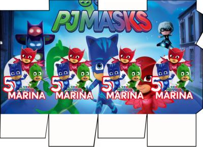 File digitale Scatolina Latte Pj Masks box contenitore personalizzabile addobbi festa a tema fai da te