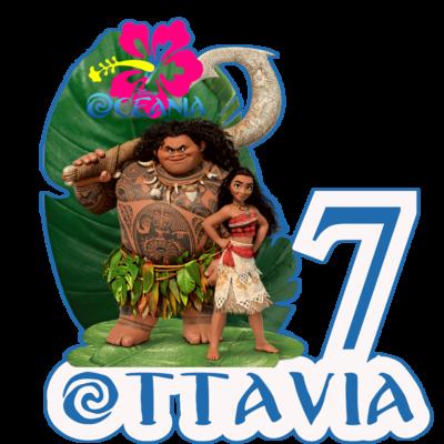 File digitale Adesivi Bicchieri Oceania sagomati personalizzabili decorare festa a tema compleanno bambini