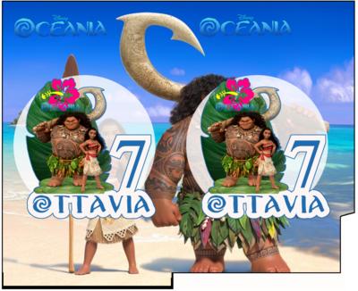 File Digitale Porta Tovaglioli e Posate personalizzati Oceania addobbi feste di compleanno
