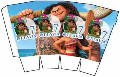 File digitale Scatolina Pop Corn Oceania box contenitore personalizzabile addobbi festa a tema fai da te