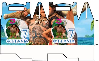 File digitale Scatoline Oceania personalizzabili Regalo porta Gadgets confetti Caramelle bomboniere