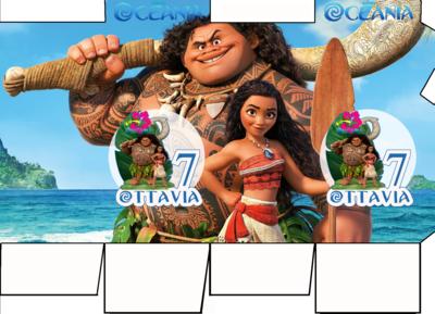 File digitale Scatolina Latte Oceania box contenitore personalizzabile addobbi festa a tema fai da te