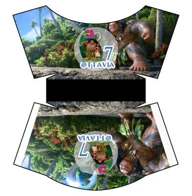 File digitale Scatolina patatine Mc Donald Oceania box contenitore personalizzabile addobbi festa a tema fai da te