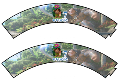 File digitale Wrapper Cupcake Oceania personalizzabile addobbi festa a tema fai da te