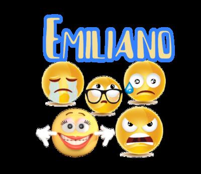 File digitale Adesivi Bicchieri Emoji Emoticons sagomati personalizzabili decorare festa a tema compleanno bambini