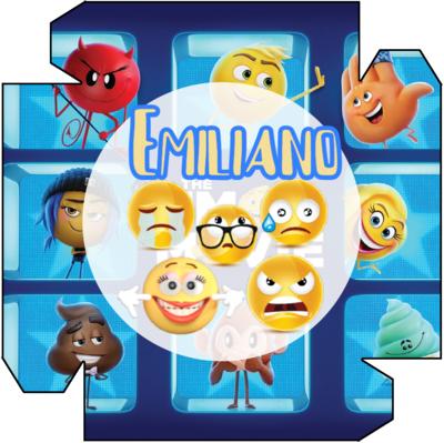 File digitale Piatti Emoji Emoticons personalizzabili addobbi festa compleanno a tema