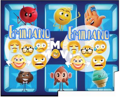 File Digitale Porta Tovaglioli e Posate personalizzati Emoji Emoticons addobbi feste di compleanno