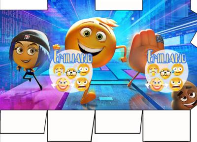 File digitale Scatolina Latte Emoji Emoticons box contenitore personalizzabile addobbi festa a tema fai da te