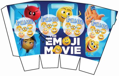 File digitale Scatolina Pop Corn Emoji Emoticons box contenitore personalizzabile addobbi festa a tema fai da te