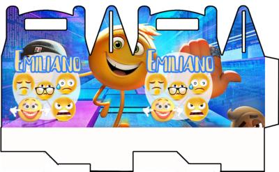 File digitale Scatoline Emoji Emoticons personalizzabili Regalo porta Gadgets confetti Caramelle bomboniere