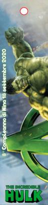 10 Segnalibro in Plastica personalizzato Incredibile Hulk