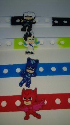 10 bracciali braccialetti super eroi pigiamini pj masks gattoboy geco gufetta romeo lunetta gadget fine festa di compleanno a tema bambini bambine femminucce maschietti