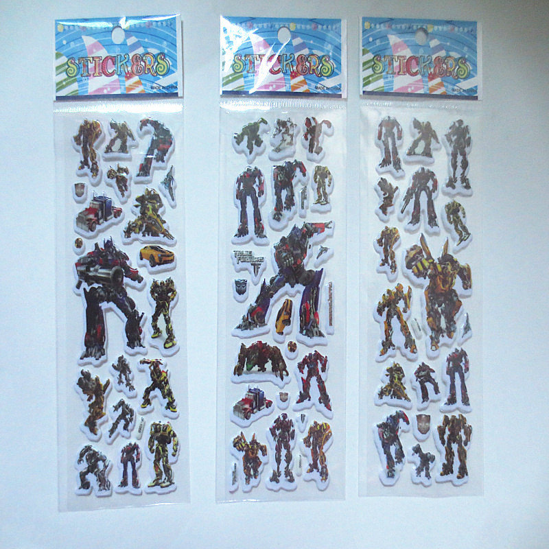 20 fogli stickers Adesivi Robot Transformers