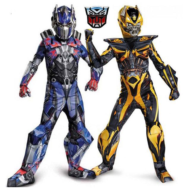 Robot Transformers Optimus Prime costume imbottito con muscoli maschera carnevale travestimento cosplay festa a tema eta misura taglia bambino 6 7 8 9 10 11 12 anni