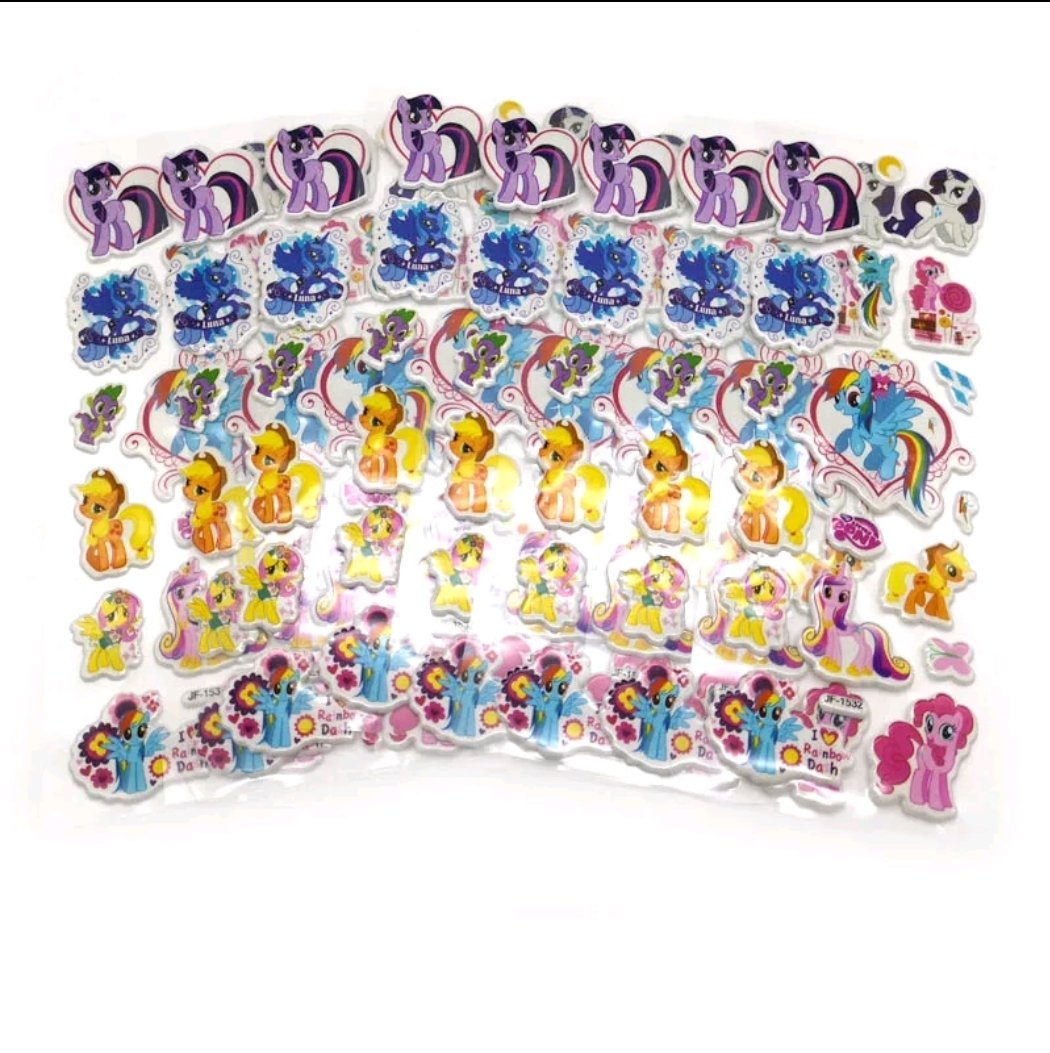 30 fogli stickers Adesivi a tema my Little pony