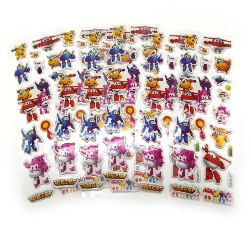 30 fogli stickers Adesivi a tema Super Wings