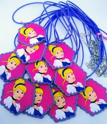 10 Collane Principessa Cenerentola pendente in PVC