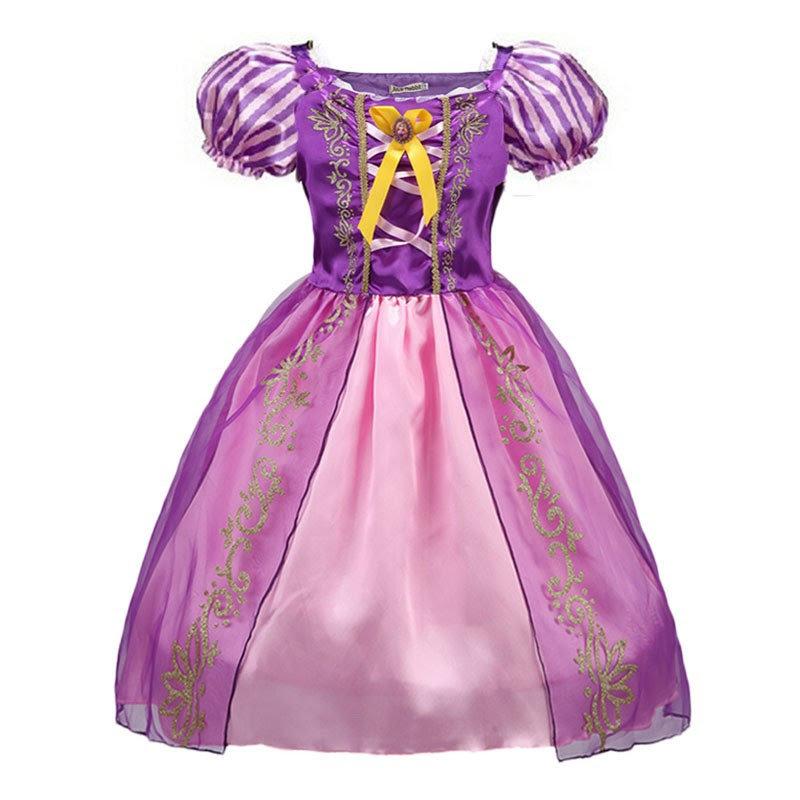 costume Principessa Rapunzel vestito + accessori maschera carnevale bambina