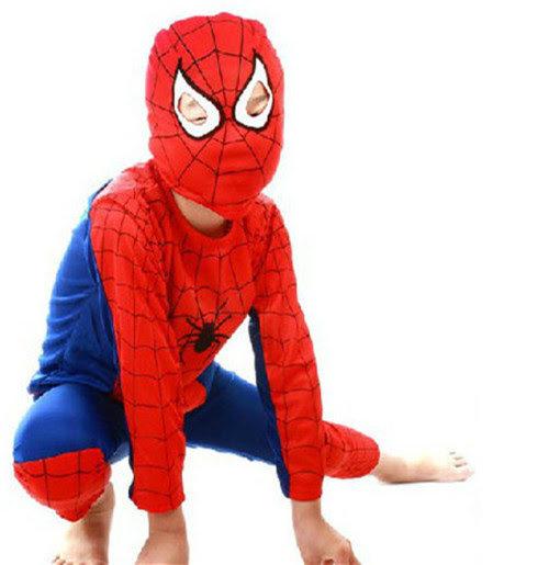 Spiderman Costume maschera carnevale travestimento cosplay