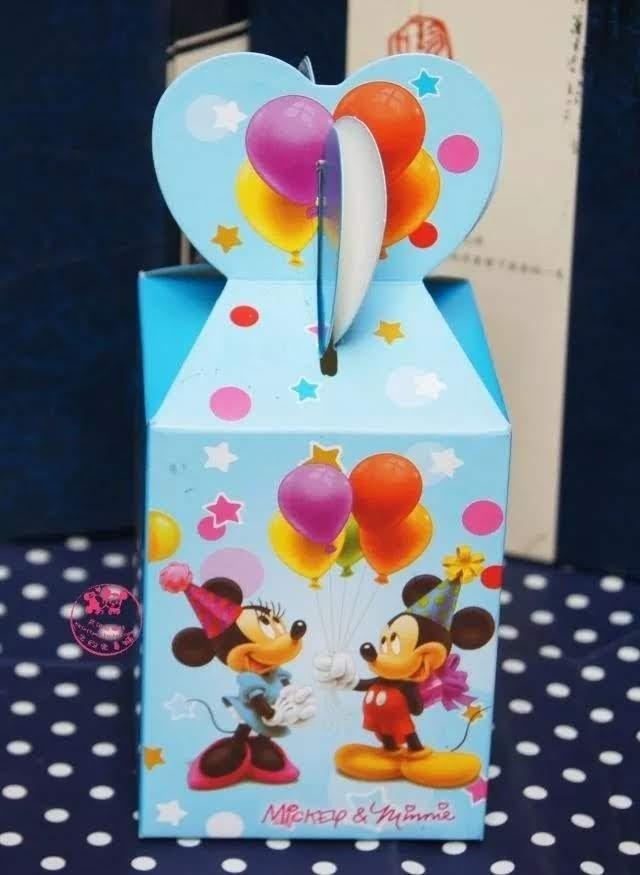 10 Scatoline Minnie e Topolino Regalo porta Gadgets confetti Caramelle