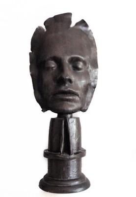 Dale Dunning Bronze Life Face Mask Signed Ltd Ed 3 of 7 Sculpture