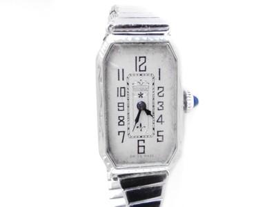Art Deco 14k White Gold Ladies AWC Bedforde Watch