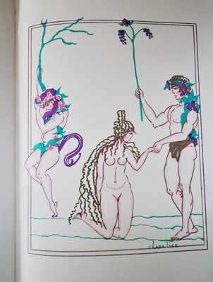 1st Ed Book Twilight of the Nymphs Pierre Louys 1927 Illustration by Clara Tice