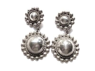 Vintage Taxco Mexico Dangle Earrings Boho, Gypsy, Medallion