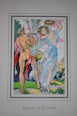 1930's Andre Hofer Daphne and Cloe 10 Lithographs