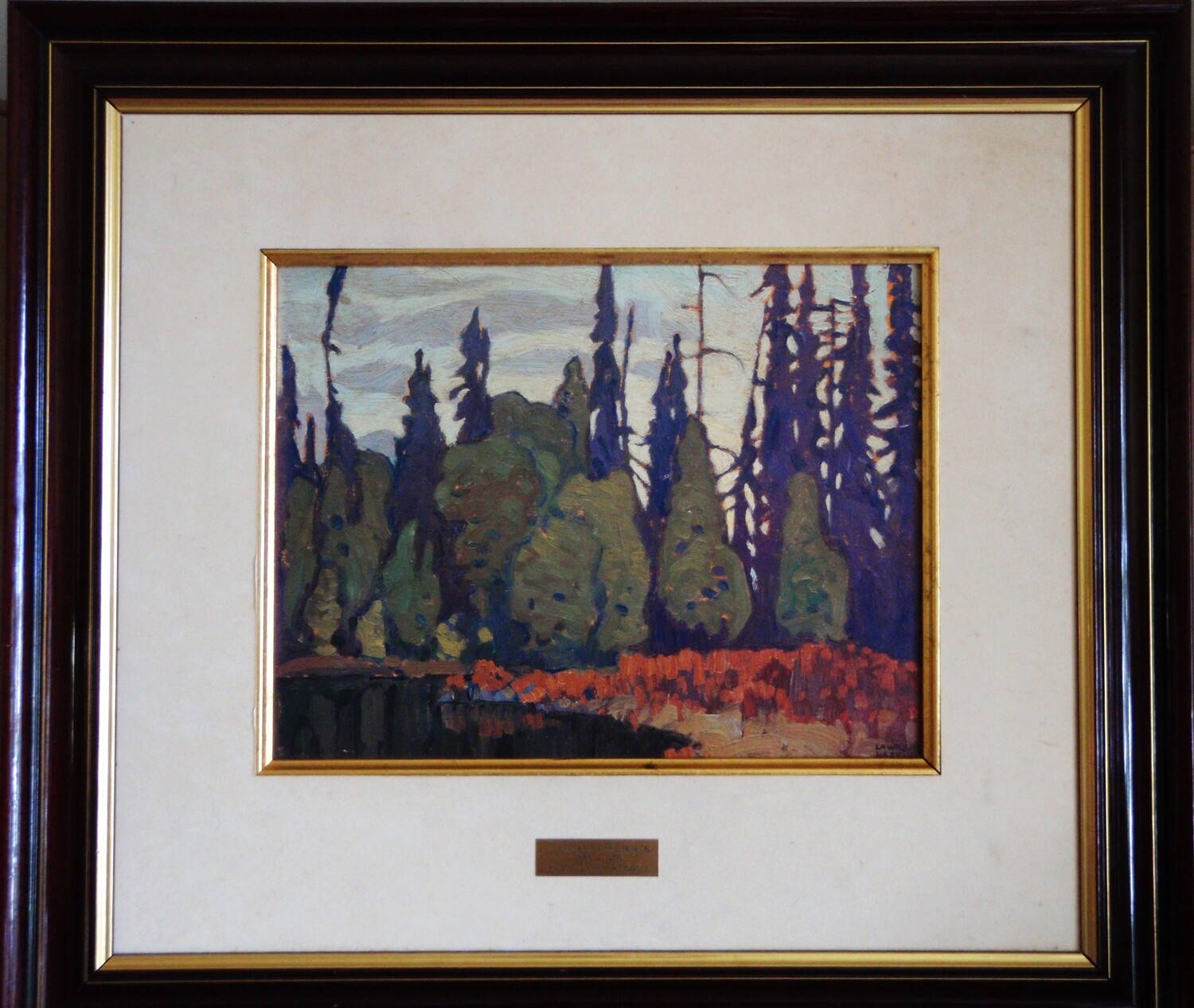 Lawren Harris Group of Seven Sand Lake Algoma Painting Ltd Ed 52 of 460 Oil on Panel