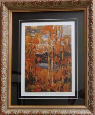 Tom Thomson Ltd Ed 3 of 99 Algonquin October Framed Art Autumn Colors Group of Seven COA