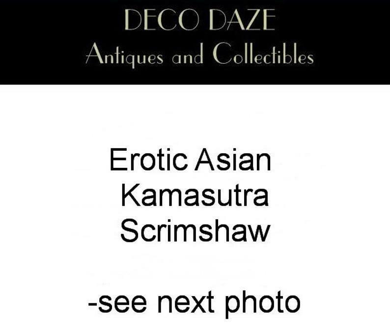 10 Panel Asian Erotic  Kamasutra Scrimshaw Wall Hanging Chinese Wedding Dowry